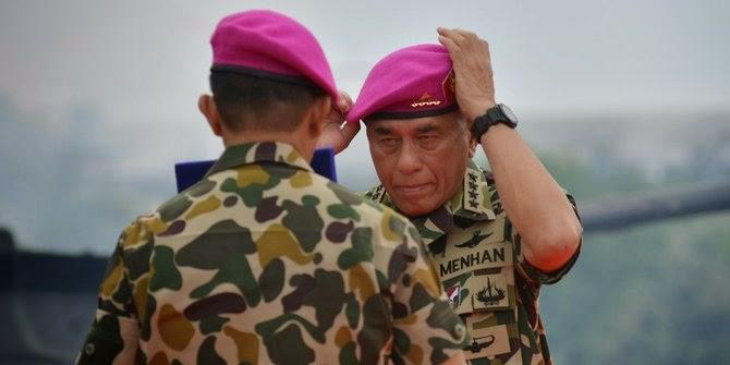 Menhan diangkat jadi warga kehormatan Marinir