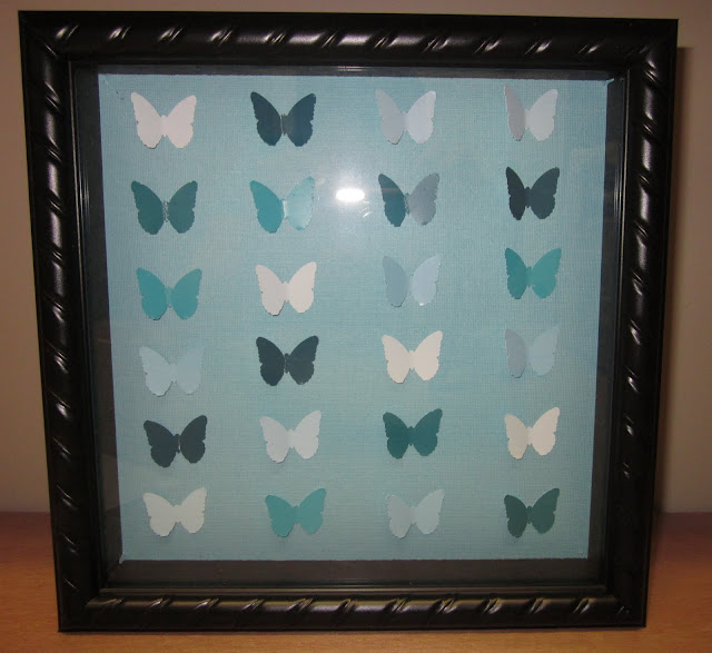 DIY Butterfly Paint Chip Shadowbox