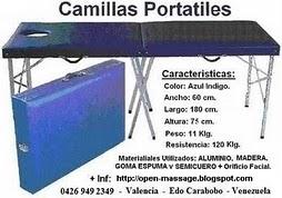 VENTA DE CAMILLAS PORTATILES