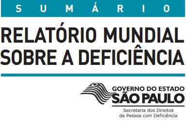 RELATORIO MUNDIAL DA PESSOA COM DEFICIENCIA