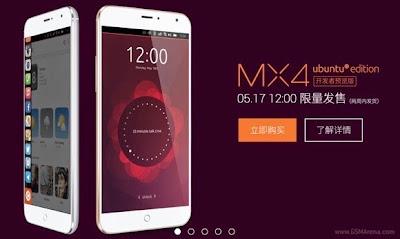 Meizu MX4 Ubuntu Edition