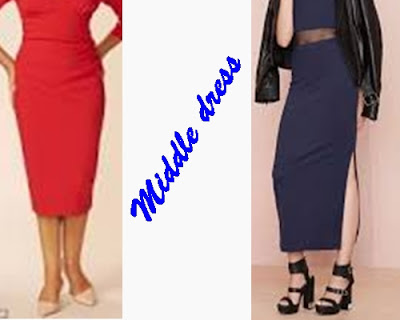 +Foto atau gambar jenis dress wanita middle dress
