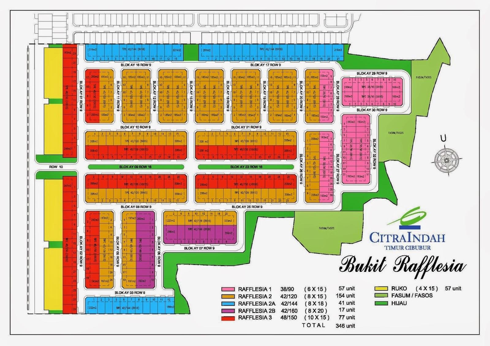 Site Plan Bukit Rafflesia Citra Indah