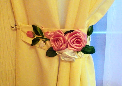 Как сделать розы своими руками для штор 51