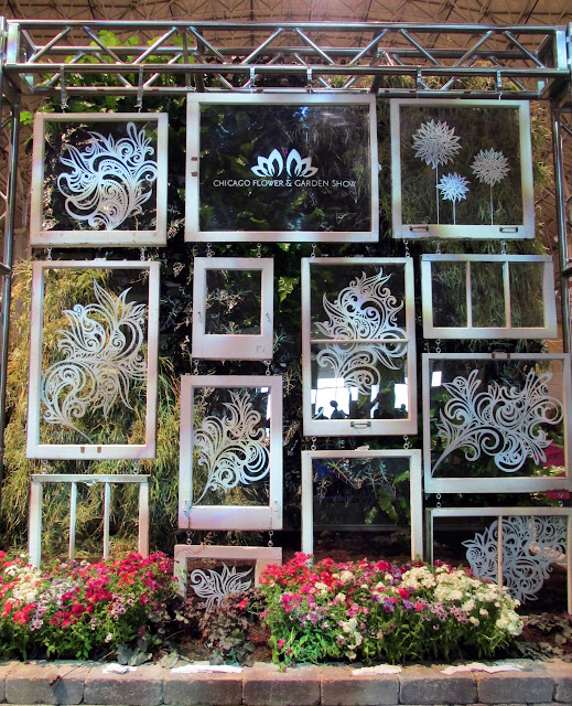Handpainted glass windows