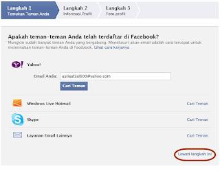 Cara Membuat Facebook / FB Baru + Gambar 5