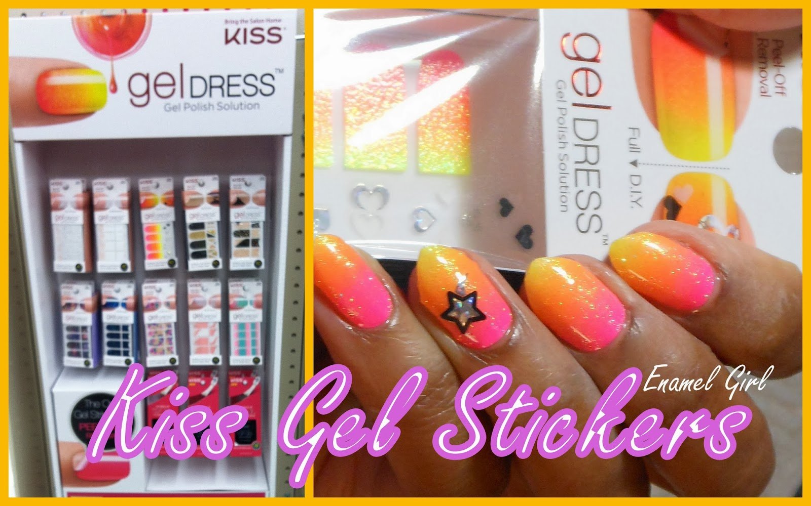 Enamel Girl: Kiss Gel Dress Nail Stickers - Swatches and Review