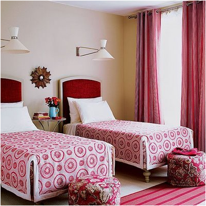 Decorating Girls Room With Two Twin Beds. Key Interiors by Shinay  Decorating Girls Room With Two Twin Beds