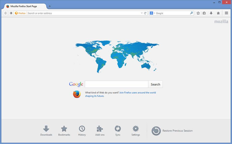 Cara Mengubah Halaman Awal Mozilla Firefox versi 29