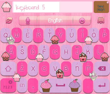 Cupcake Delights Go Keyboard Skins for grab for only $3.00 USD for all ...