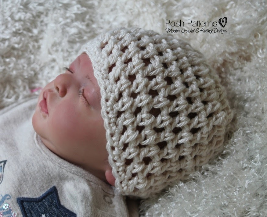 Crochet Knit Stitch Hat : ... Patterns and Knitting Patterns: Free Crochet Pattern Mesh Stitch Hat