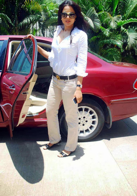 Sameera Reddy in White Shirt