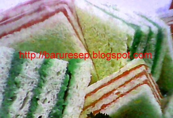 Kreasi Roti Tawar Lapis Warna Warni | Baru Resep
