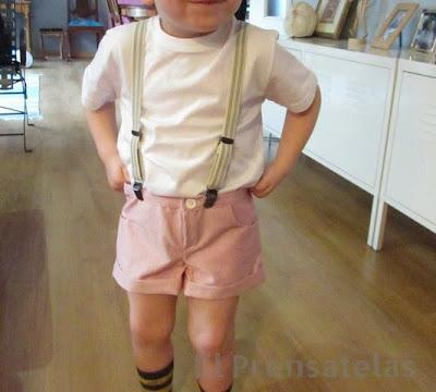 Patrón shorts niño Burda