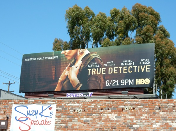 True Detective season 2 Rachel McAdams billboard