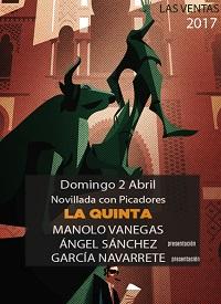 MADRID LAS VENTAS 02-04-2017 NOVILLADA CON PICADORES.