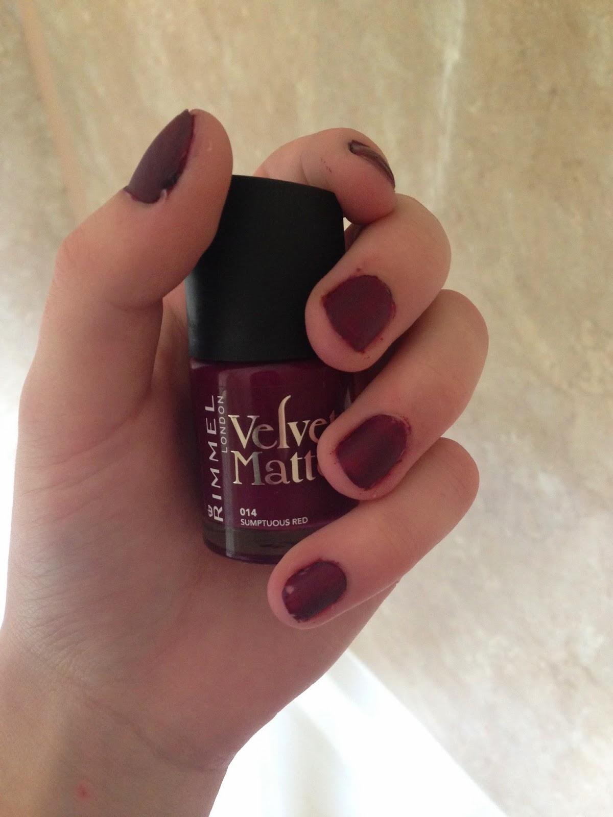 Rimmel Velvet Matte Nail Polish Review | Splendid Wedding Company