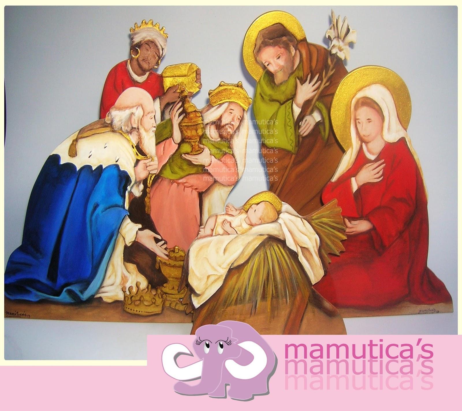 Mamutica's: Pesebre en MDF pintado a mano