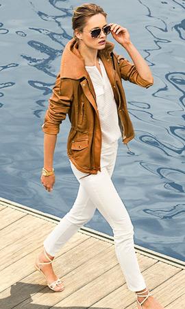 Massimo Dutti verano 2013 chaqueta piel mujer