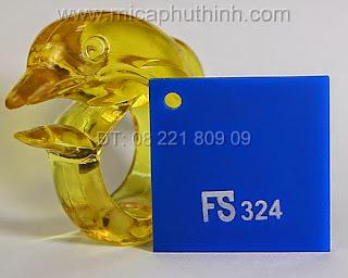 Mica màu xanh dương nhạt FS 324