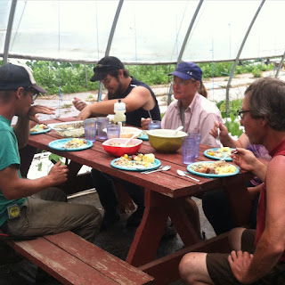 LLunch with the Hawkins Family Farm crew - FoyUpdate.blogspot.com
