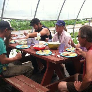 LLunch with the Hawkins Family Farm crew - FoyUpdate.blogspot.com