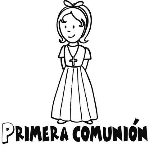 CELEBRACIONES CATOLICAS: Dibujos para colorear de Primera comunión