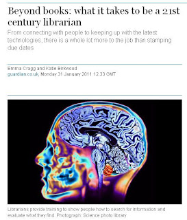 A scan of a human brain used to illustrate an article about librarianship