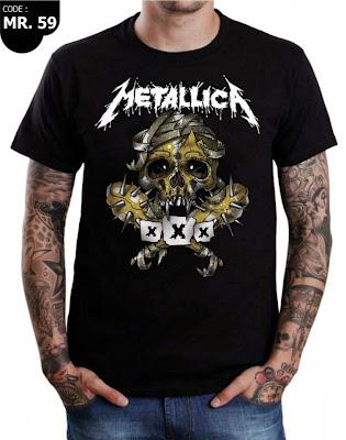 Jual Baju Kaos Metallica Murah