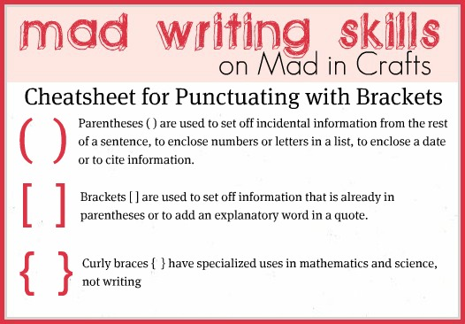 When can you use brackets in an essay