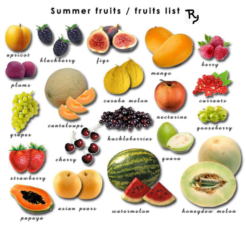 fruit in season types of fruit