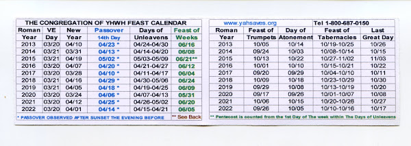 2013-22 Holy Day Calendar Card-click here