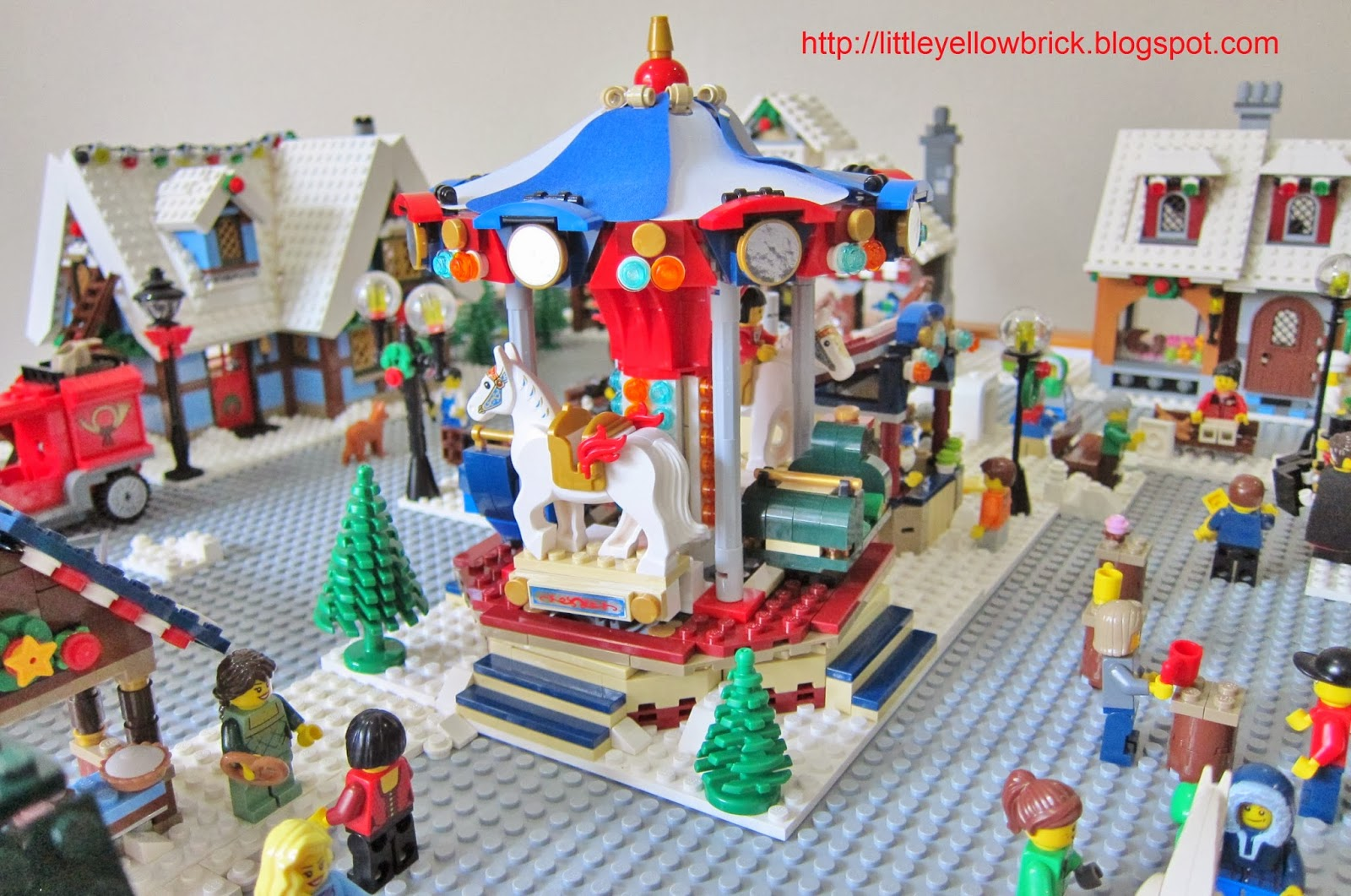 how to build a lego christmas village