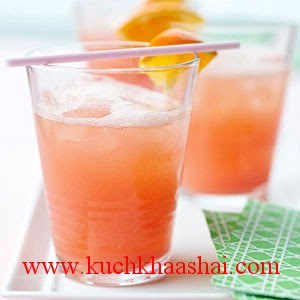 Ingredients<br /><br />    * 3  cups  ginger ale<br />    * 4  T.  grenadine<br />    * 4  T.  orange juice<br />    * 3    scoops orange sherbet<br /><br />Directions<br /><br />Blend together ginger ale, grenadine, orange juice, and sherbet. Pour into ice-filled cocktail glasses. (To make a version with alcohol, add 1/2 white rum.)<br />