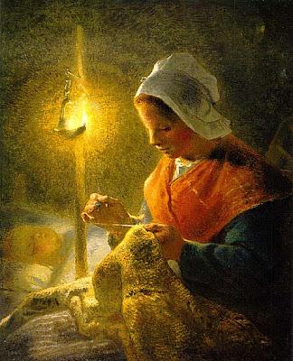 Donna che cuce