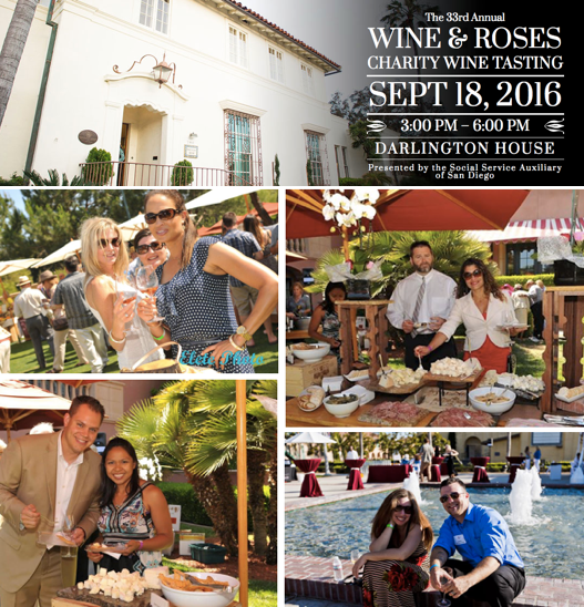 Don't Miss the 33rd Annual Wine & Roses Charity Tasting Event - September 18