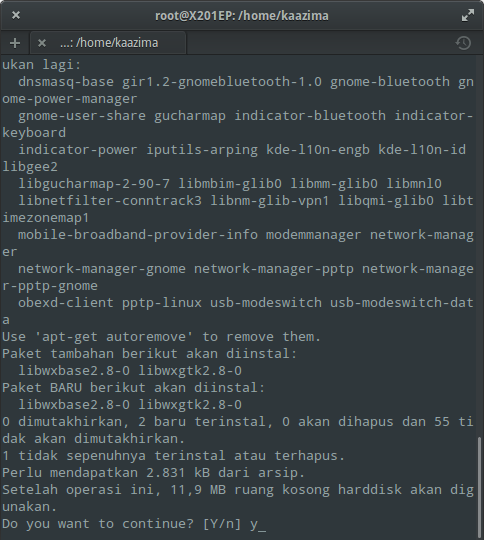 Instal WinUSB di Elementary / Ubuntu : Download Dependensi