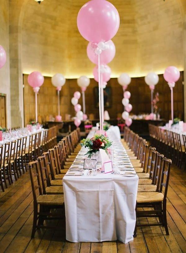 7 centos de mesa para bodas con globos - Centros de mesa con globos ...