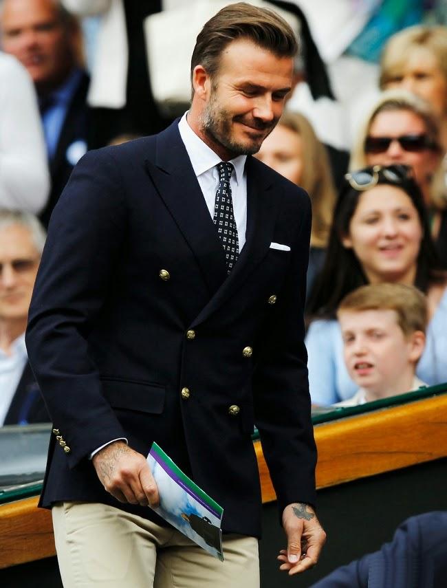 El futbolista acude a la final de Wimbledon