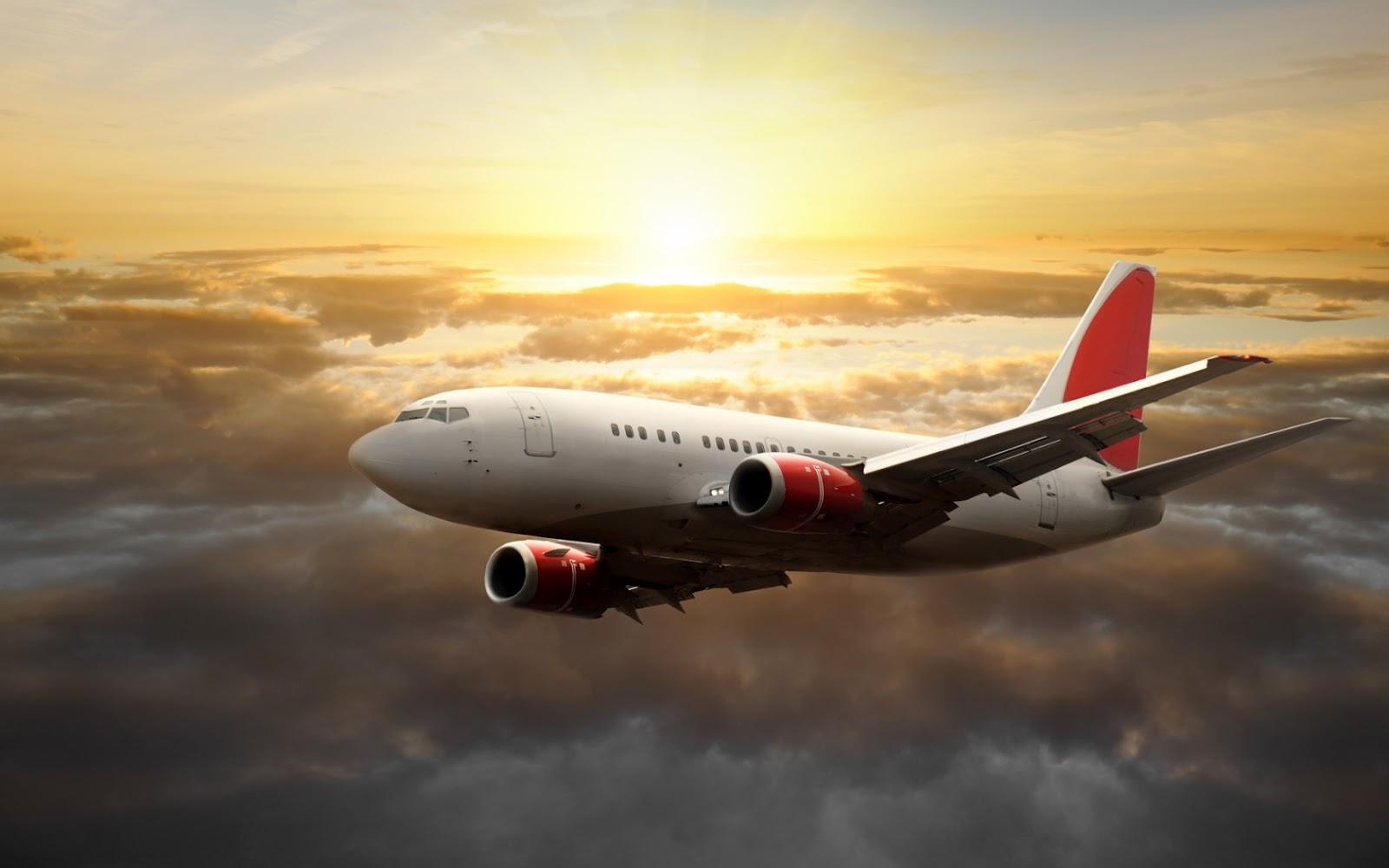 avion comercial volando