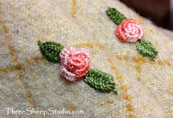 Cast On Stitch Roses from ThreeSheepStudio.com