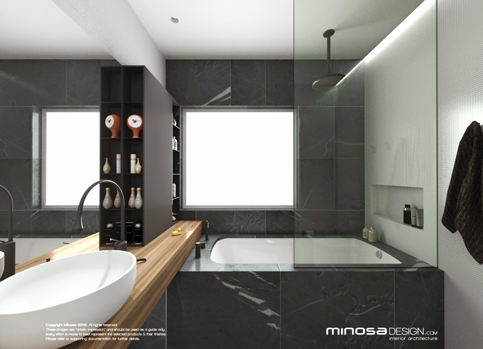 Minosa bathroom design small space feels large Bathroom layout small room