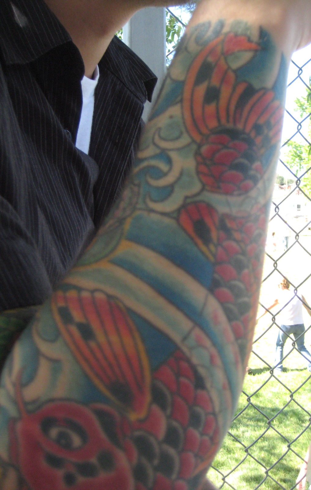 sleeve with a dragon koi