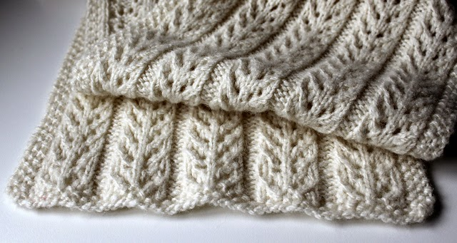 Eight-by-Six: cables without the cables (Birch Trees scarf)