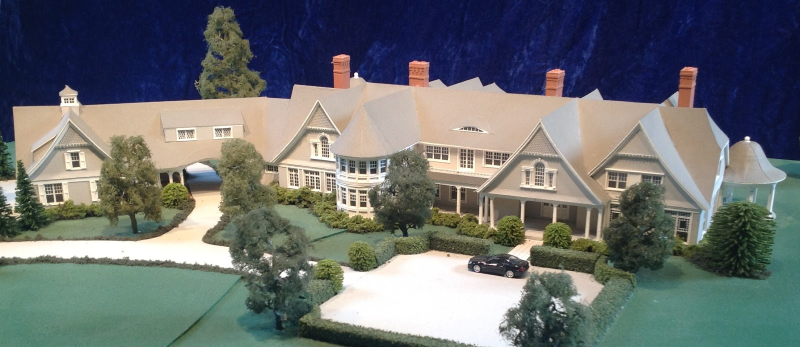 Gary lawrance architect and model maker featured in for Wall street journal mansion