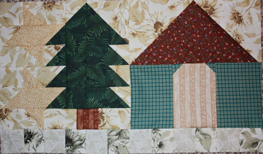 Sarah lynn 39 s quilting potting shed and sunflower blocks for Garden shed quilting