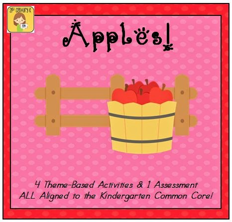 http://www.teacherspayteachers.com/Product/Kindergarten-Theme-Apples-1443551
