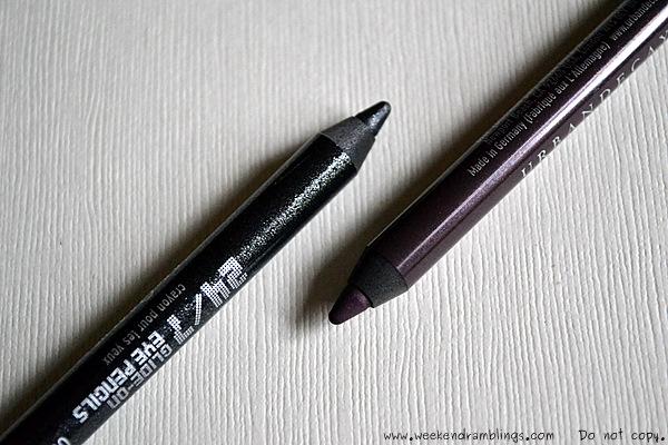Sephora Urban Decay 24 7 glide on eyeliner pencils swatches Zero Ransom lust Gunmetal El Dorado 1999 deviant Flipside Electric stash graffiti yeyo bourbon Rockstar binge lucky Covet Oilslick