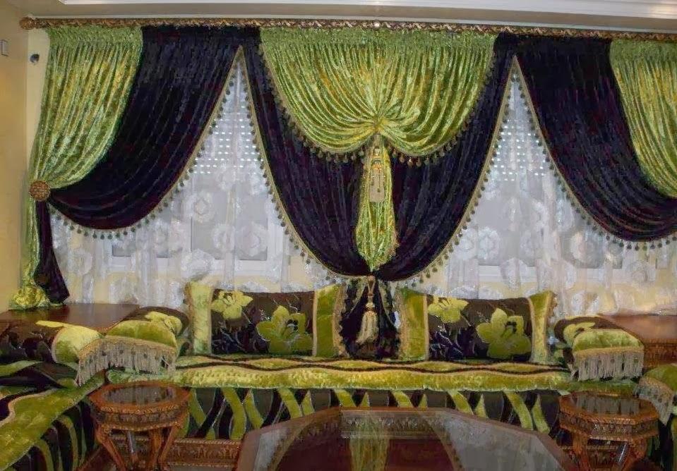 Salon marocaine moderne: Rideaux occultants style marocain ...