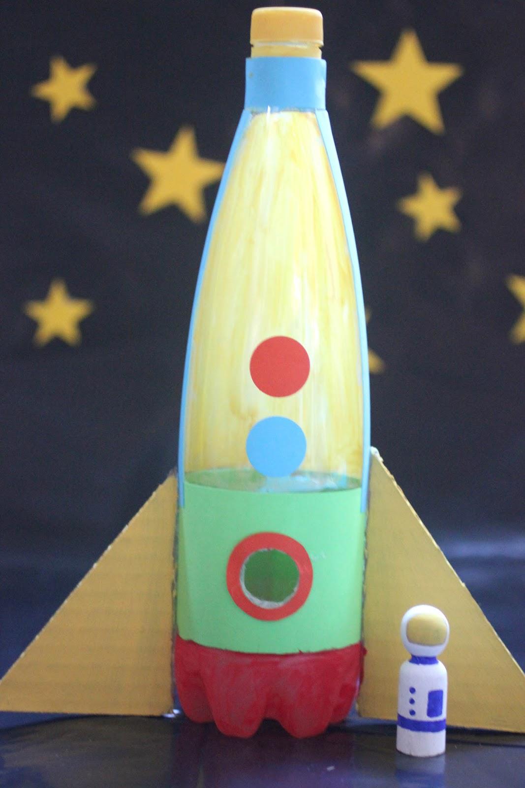 Ракета своими руками из бутылки ребенку